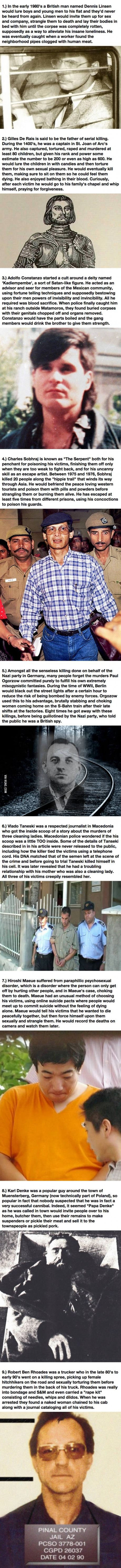 The Worst Crimes In History Were Committed By 9 People You Haven't Heard Of.