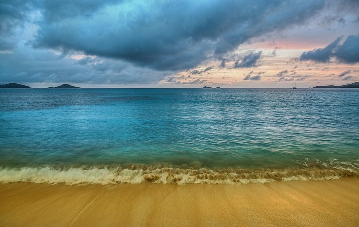 A Beach for your thoughts - Virgin Gorda Sunset - from #treyratcliff at www.StuckInCustoms.com - all images Creative Commons Noncommercial.
