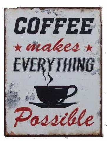 Szyld+metalowy+Coffee+w+MIA+home+passion+na+DaWanda.com