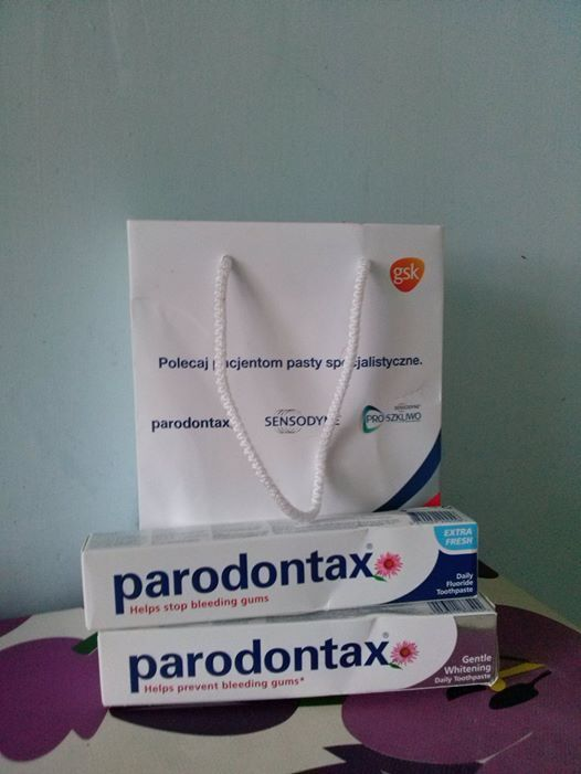 Doszła moja nagroda w kampanii #parodontax. Dziękuję bardzo, na pewno się przyda bo pasta już na wykończeniu. #parodontax #smakpasty #wielkitest #parodontax #pastasmakuje #14dnitest