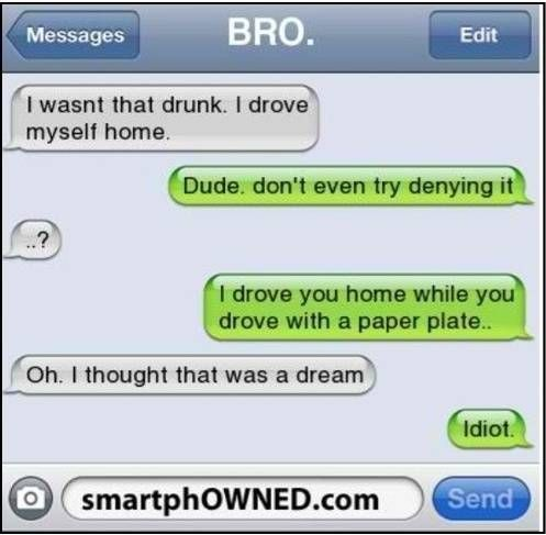 "33 of the best ""I wasn't that drunk"" texts  ➰ Bustle"