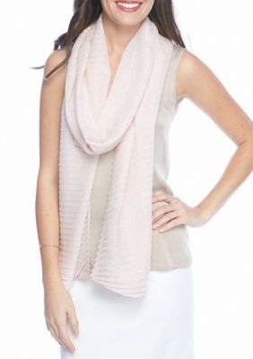 Collection Xiix Women's Lurex Pleat Long And Skinny Scarf - Pink - One Size