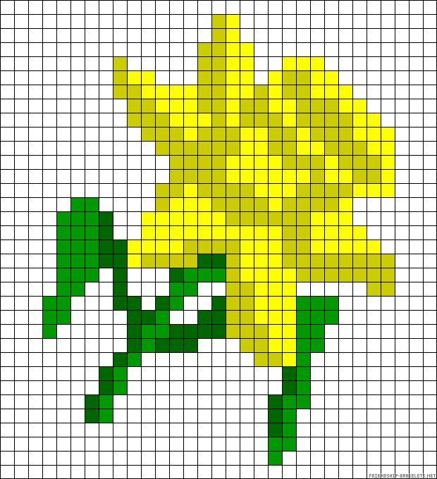 Daffodil perler bead pattern