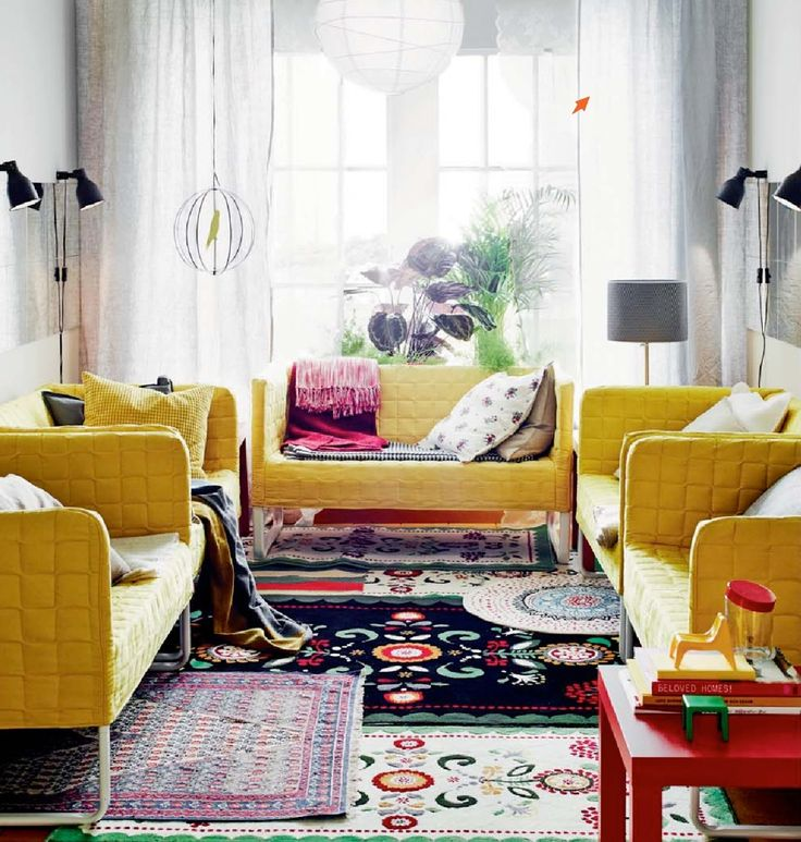 Ikea 2015 Catalog Preview   Bright Yellow Sofas! Ikea Living Room ...