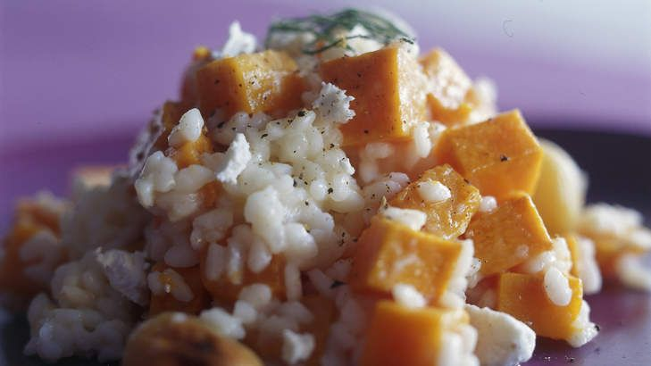 Pumpkin and goat's cheese risotto