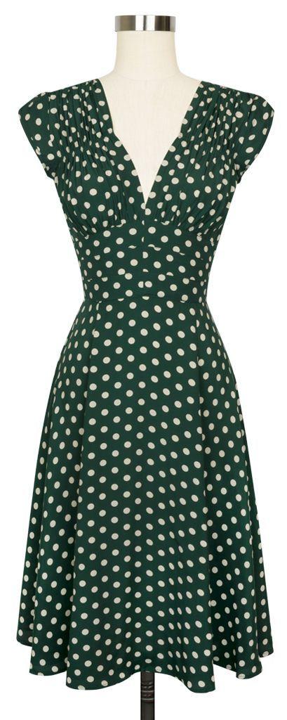 The favorite Trashy Diva 1940's Dress is back in the super fun Irish Polka print!