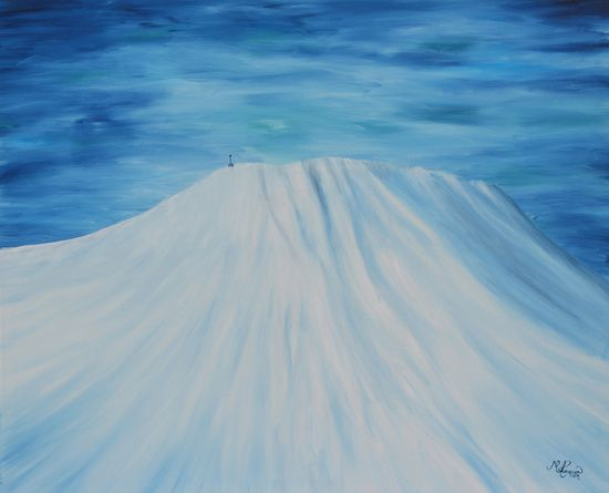 """★ """" -10° """" - a piece from the """"Gaustatoppen"""" collection.  FROM $23 - NOW AVAILABLE AT: ★ http://society6.com/ms_thomassen/prints ★   mountains/ nature/ wildlife/ abstract/ blue/ Nordic/ Scandinavian/ interior/ design/art/ oil painting/ illustration/ frame @MS_THOMASSEN"""