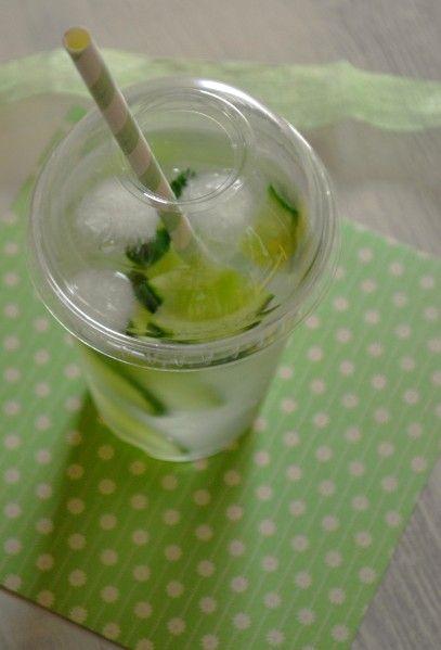 Eau vitaminée menthe / concombre { Detox water } - La cuisine d'Anna et Olivia
