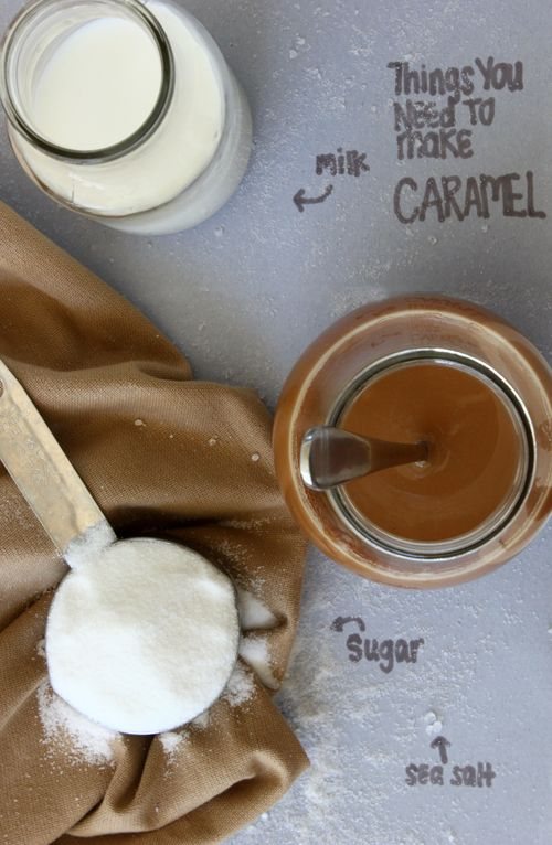 Deliciously tempting Caramel Sauce made with just milk, sugar, and sea salt. Plus, all the tips to get it right!!    DIY Caramel Sauce  Confessions of a Bright-Eyed Baker
