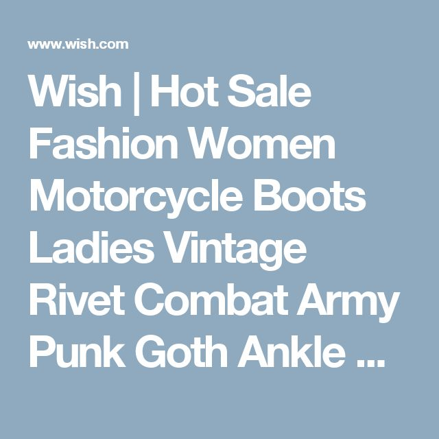 Wish | Hot Sale Fashion Women Motorcycle Boots Ladies Vintage Rivet Combat Army Punk Goth Ankle Shoes Women Biker Leather Autumn/Winter  Boots