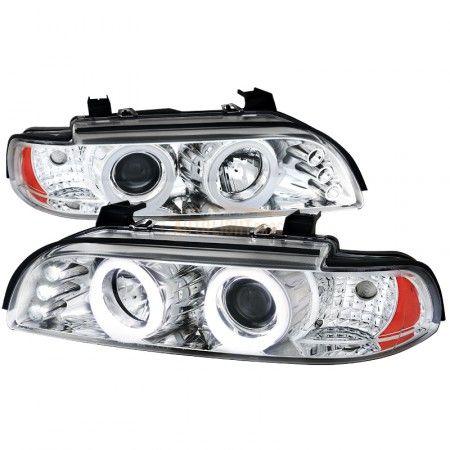 Spec-D 6LHP-E3997-TM | 2001 BMW 5 Series Smoke Halo Projector Headlights for Sedan