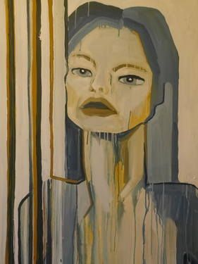 "Saatchi Art Artist Laurel Gallagher; Painting, ""Feral Goddess"" #art"