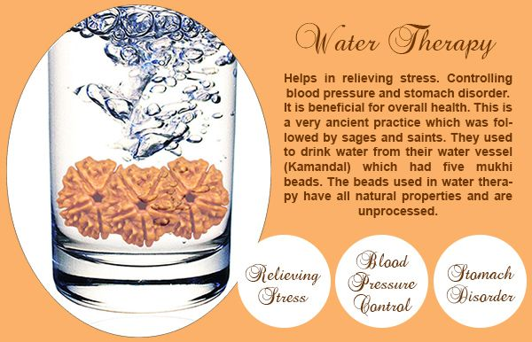 Benefits of 5 Mukhi Water Therapy:  Helps in relieving stress. Controlling blood pressure and stomach disorder. It is beneficial for overall health. This is a very ancient practice which was followed by sages and saints. They used to drink water from their water vessel see more http://www.rudralife.com/Rudraksha/details.php?id=34