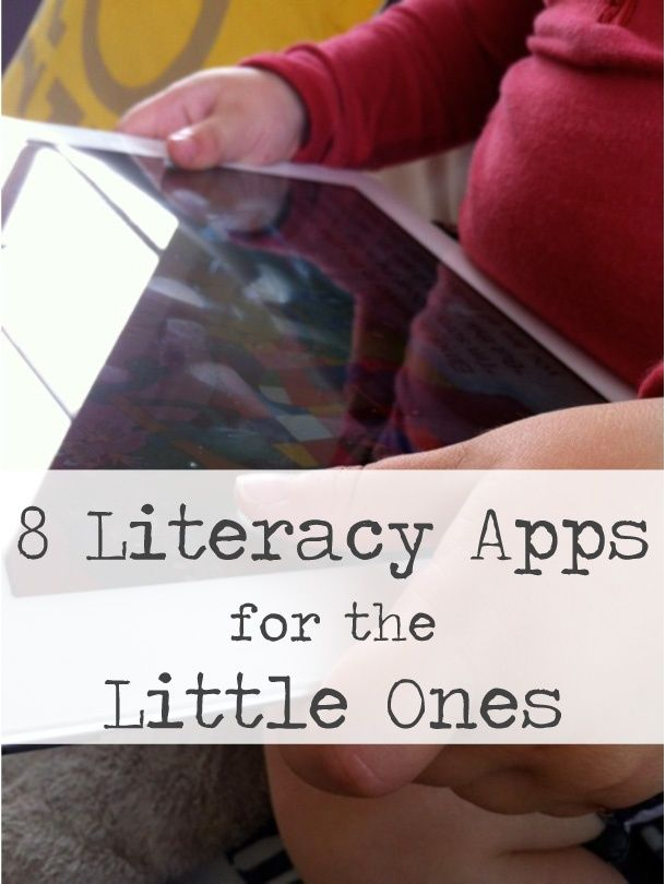 8 Literacy Apps for the Little Ones from Rebecca, thirteenredshoes.com via…