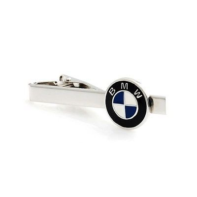 Bmw logo car automobile tie clip #silver black #wedding bar #clasp,  View more on the LINK: http://www.zeppy.io/product/gb/2/272050840620/