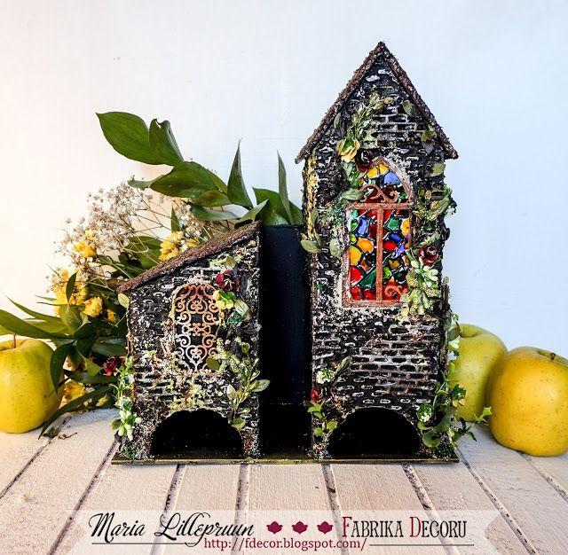 Handmade mixed media tea house by Maria Lillepruun