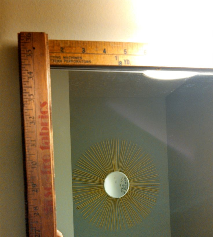 Yardsticks Framing Bathroom Mirror Settlers Pinterest