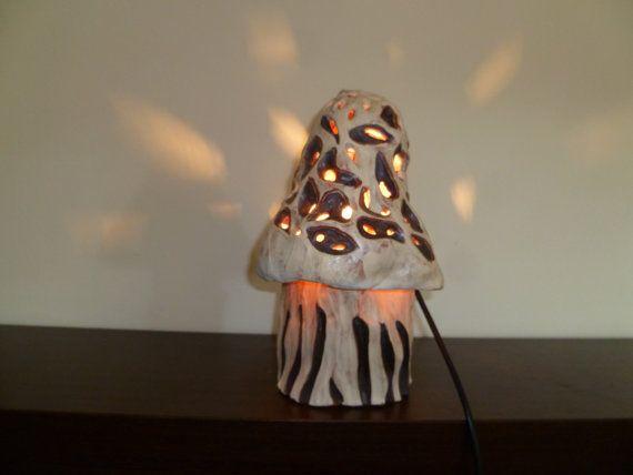 Mushroom lamp by Muddymood on Etsy