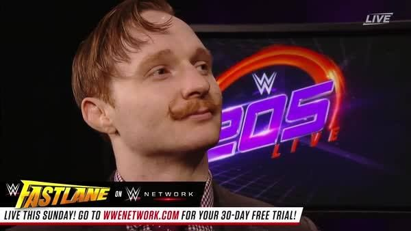 What is Jack Gallagher expecting from Neville's WWE Fastlane address on WWE 205 Live on WWE Network?