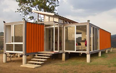 Shipping Container Homes: Containers of Hope is the latest project by Benjamin Garcia Saxe and is composed of two 40' shipping containers set together with a raised mid section and clerestory windows.