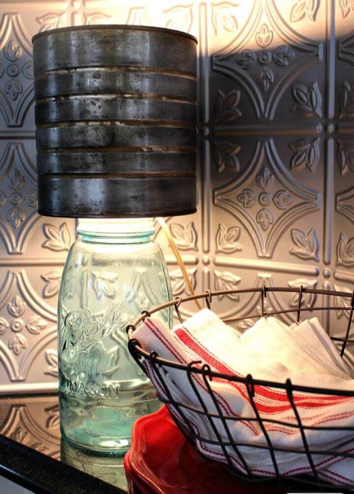 25 Creative Diy Mason Jar Lighting Ideas Rustic Table Lamps Mason Jar Diy Mason Jar Lamp