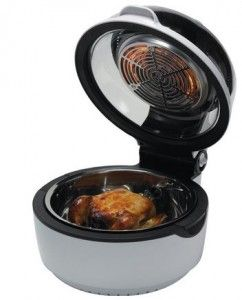 Replace your traditional deep fryer with this Air Fryer and Rotisserie Multi Cooker By Good Cooking, 100% oil free cooking, low calories and same taste as traditional fryer. Access this product now for low priced offer.