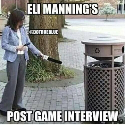 Manning's post game interview