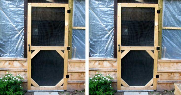 Make a custom size garden screen door in 2020 with images