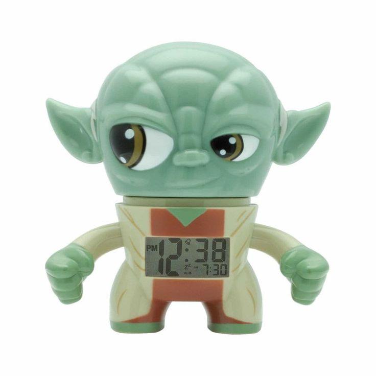 BulbBotz Star Wars 2020206 Yoda Plastic Alarm Clock (3.5 Inches Tall), Green