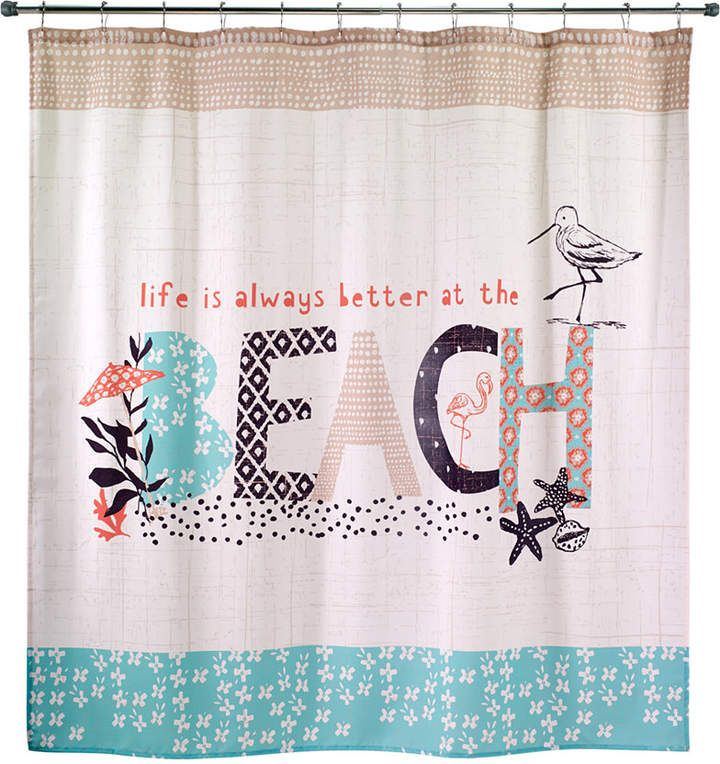 Beach Life 72 X 72 Graphic Print Shower Curtain Products In 2019