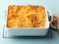 """Cauliflower """"Mac"""" and Cheese Casserole... combined this one kinda with the other recipe that included butternut squash   Cauliflower """"Mac"""" and Cheese Casserole Recipe : Food Network"""
