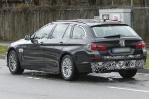 Spies on the facelifted BMW 5 Series Touring