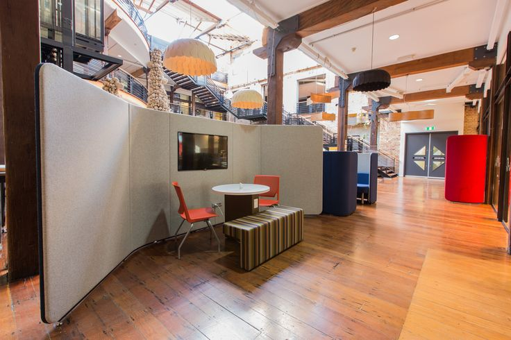 WorkTools - IQ Commercial Focus Wall with built in TV at the Urbis Design Day Pro 2015