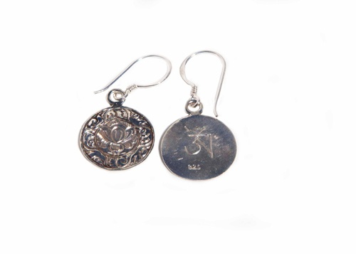 Lotus Flower Earrings  Another option to pair with our lotus flower pendant! Handcrafted by our artisans in Nepal from sterling silver. These earrings measure 1.5cm wide by 3cm long.  Price: $40
