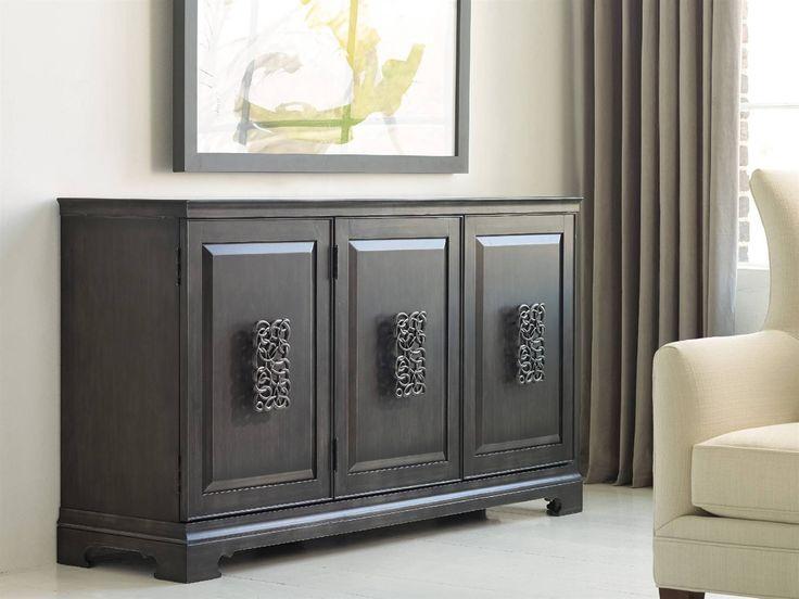 Hooker Furniture Melange Charcoal Gray 64''L x 18''W Rectangular Brockton Credenza Buffet