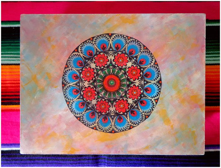 Mandala con técnica decoupage