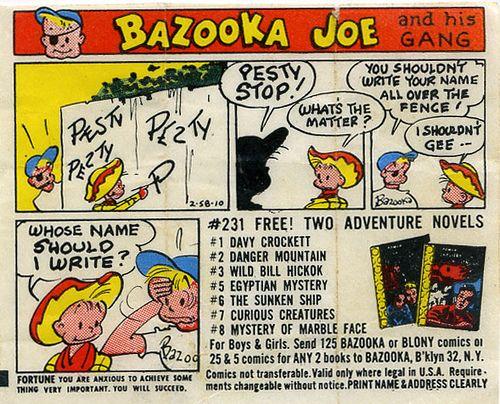 1960's Bazooka Joe comic by grickily, via Flickr