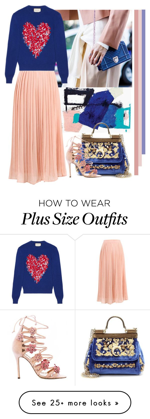 """Pretty Pleats"" by cherieaustin on Polyvore featuring iCanvas, Gucci, Dolce&Gabbana and Marchesa"