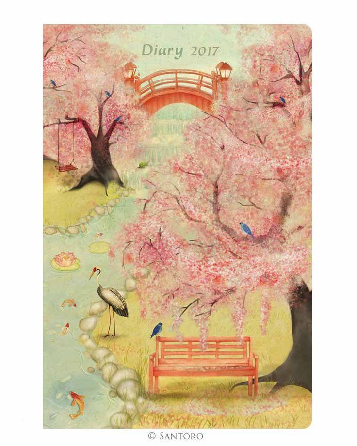 Santoro Japanese Garden 2017 Pocket Diary http://www.a-choice-of-gifts.co.uk/giftshop/prod_5214655-Santoro-Japanese-Garden-2017-Pocket-Diary.html