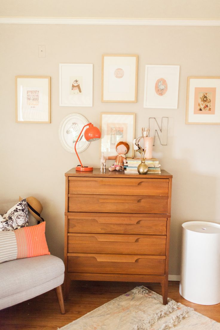 Midcentury Dresser Found On Craigslist. Chair, Laundry Hamper And Dhurrie  Rug From West Elm