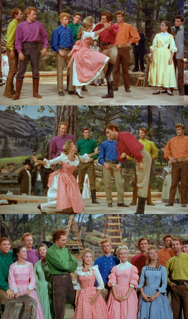 "Adore this movie! ""Seven Brides for Seven Brothers"" Starring Jane Powell and Howard Keel. 1954"