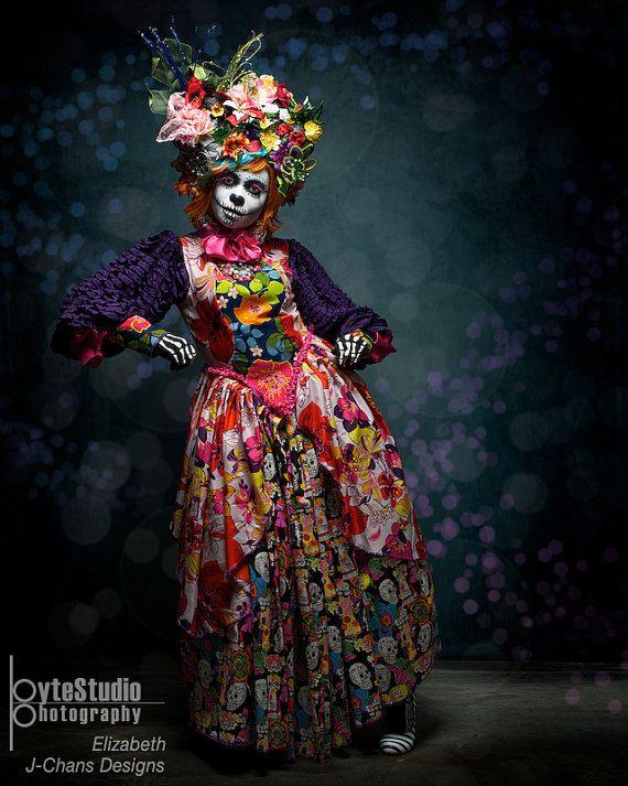 Dia de los Muertos Fiesta de Carnaval handmade headdress wig