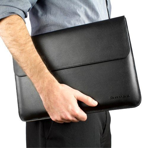 """*New* Snugg Macbook Leather ProCase 15"""" Sleeve with Lifetime Guarantee Black Pad #Snugg"""