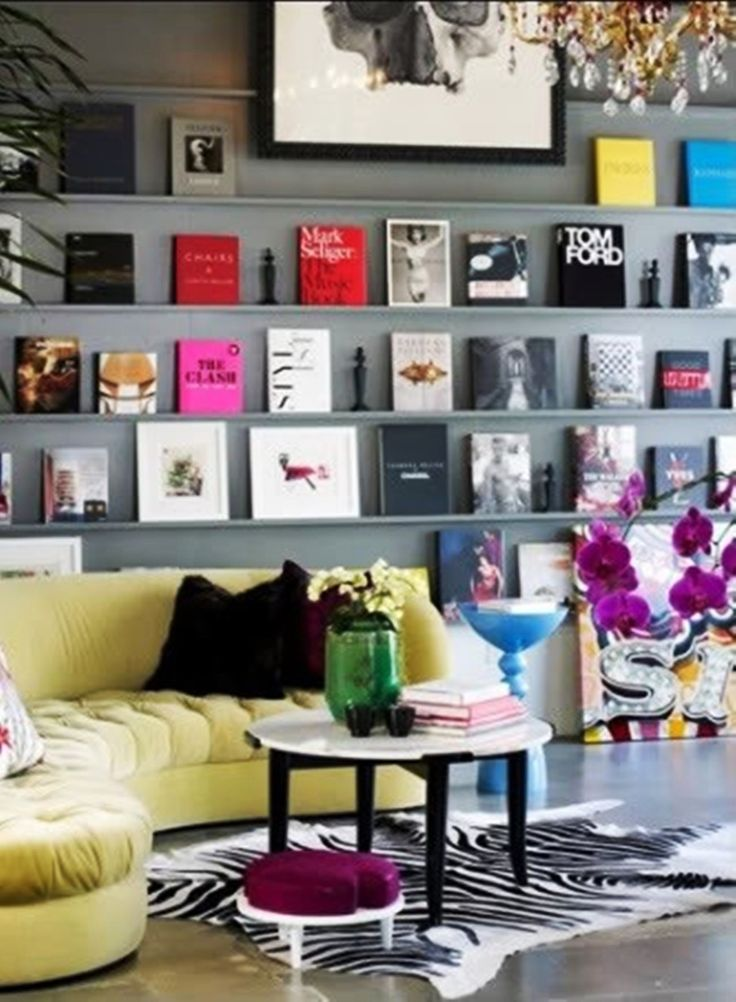 a place to display coffee table books