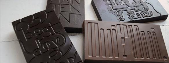 typografie en chocolade