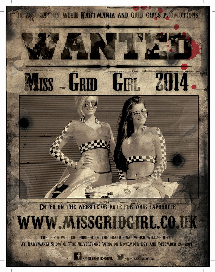 @Kartmania2013 @MissGridGirl @Grid Girls Promotions Miss Grid Girl UK is competition to be held at KartMania 2013