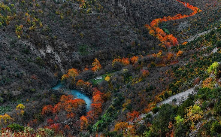 Hiking at Vikos Gorge