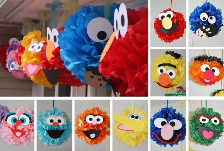 Sesame Street Pom Poms - Million Ideas Club | Million Ideas Club