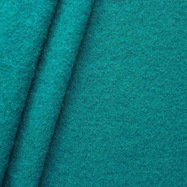 100% Wolle Walkloden Farbe Petrol