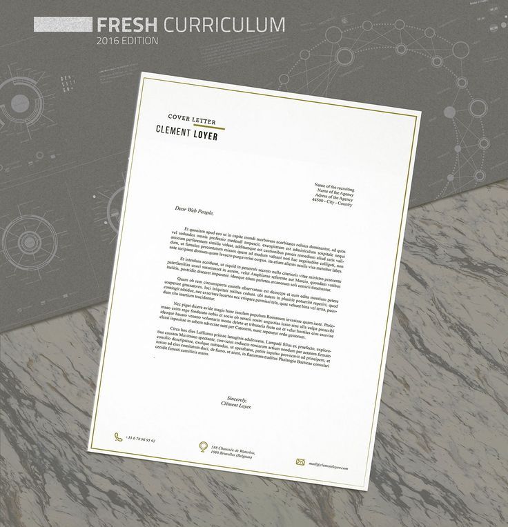 Free Fresh Resume Template 150 best Fonts